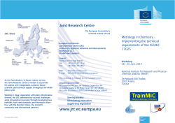 Leaflet workshop Tunisia June 2014 - European Commission