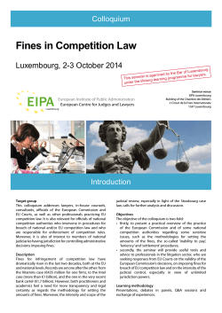 Fines in Competition Law - European Institute of Public Administration
