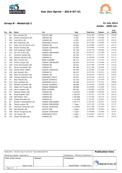 Open - Race results
