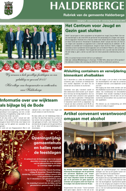 Publicaties Halderbergse Bode, 24 december 2014