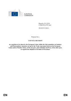 EUROPEAN COMMISSION Brussels, 26.5.2014 COM(2014