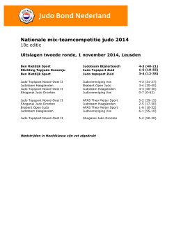 Nationale mix-teamcompetitie judo 2014