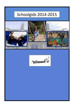 Schoolgids 2014-2015 - PCBS Julianaschool
