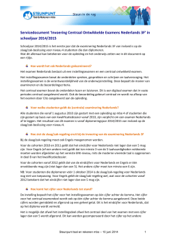 Servicedocument invoering COE Nederlands 3F