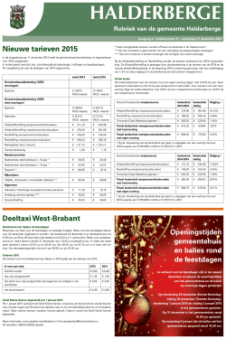 Publicaties Halderbergse Bode, 17 december 2014