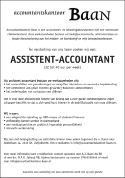 ASSISTENT-ACCOUNTANT