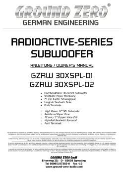 RADIOACTIVE-SERIES SUBWOOFER