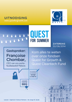 FOR SUMMER - Quest for Growth NV
