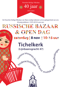Flyer Russisch Orthodoxe bazaar 8 november