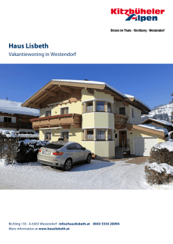 Haus Lisbeth in Westendorf