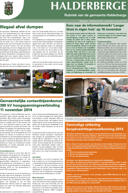 Publicaties Halderbergse Bode, 5 november 2014