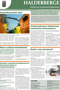 Publicaties Halderbergse Bode, 15 januari 2014