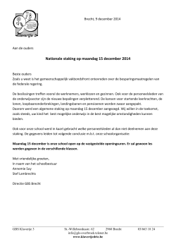brief staking 15 december 2014
