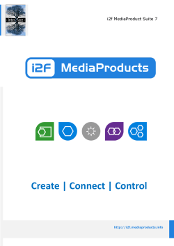 i2f MediaProduct Suite 7 brochure