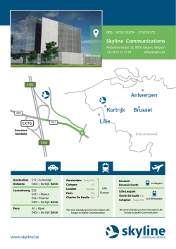 download wegbeschrijving - Skyline Communications