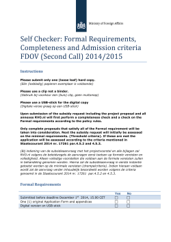Self Checker FDOV Call2