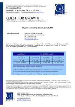 I.W. per 31/10/2014 - Quest for Growth NV