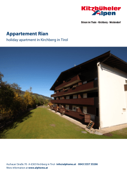 Appartement Rian in Kirchberg in Tirol