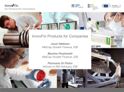 InnovFin Products for Companies
