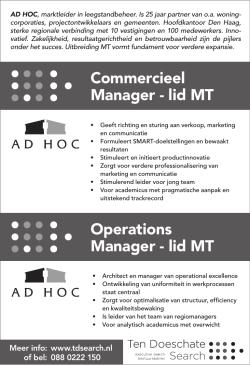 Commercieel Manager
