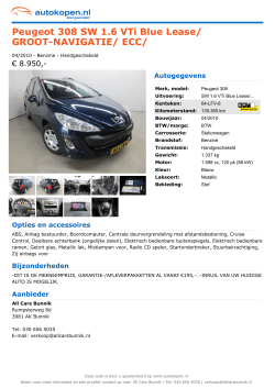 Peugeot 308 SW 1.6 VTi Blue Lease/ GROOT