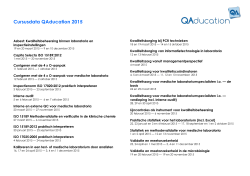 Cursusdata QAducation 2015