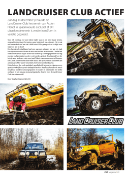 LANDCRUISER CLUB ACTIEF