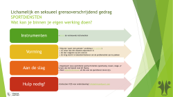 Sport met grenzen - implementatie door sportdiensten
