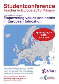 Teacher in Europe 2015.indd