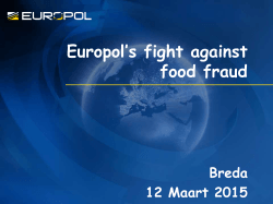 Europol`s fight against food fraud