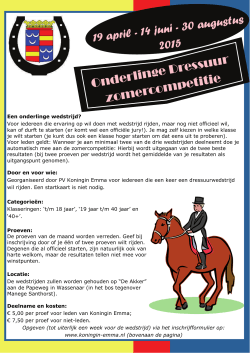 flyer - Paardensportvereniging Koningin Emma