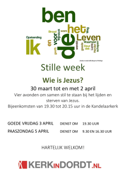 Stille week - Kerk in Dordt