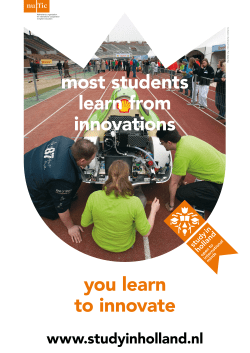 Study in Holland promotional poster innovation