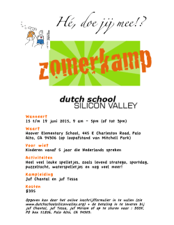 flyer + - Dutch School Silicon Valley