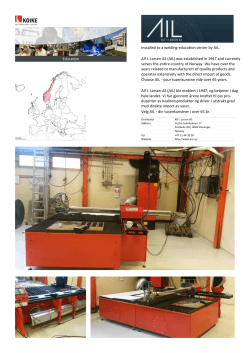 Installed to a welding education center by AIL. Alf