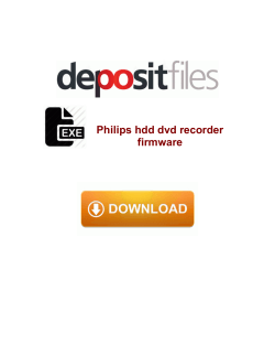 Philips hdd dvd recorder firmware