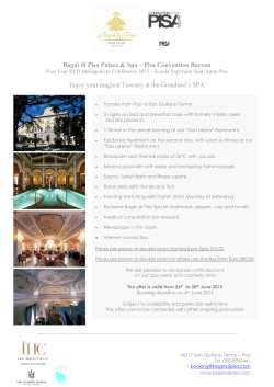Deluxe Spa Tour - R&D Management conference 2015