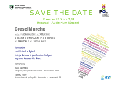 SAVE THE DATE - Impresa marche