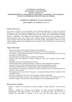 university of perugia department of economics degree courses in