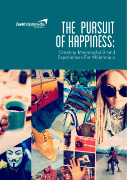 The Pursuit of Happiness: Creating Meaningful Brand
