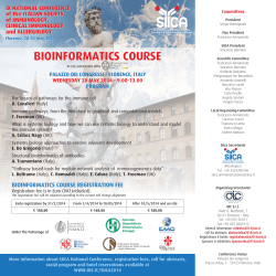 bioinformatics course registration fee