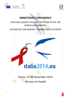 MINISTERIAL CONFERENCE Rome, 27