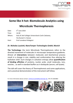 Some like it hot: Biomolecule Analytics using MicroScale