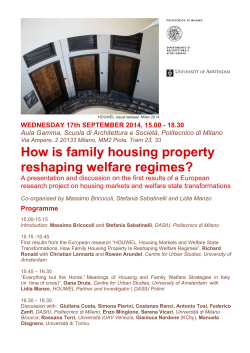 How is family housing property reshaping welfare