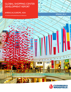 gLOBAL sHOpping CEnTEr DEVELOpMEnT rEpOrT