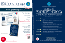 Download pdf complete - Journal of Psychopathology