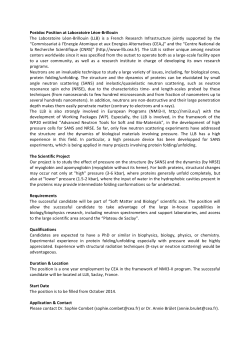 Postdoc Position at Laboratoire Léon‐Brillouin The Laboratoire