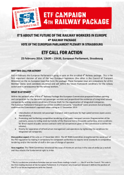 ETF CALL FOR ACTION