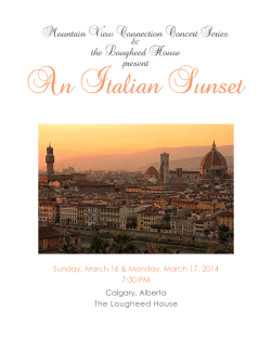 An Italian Sunset - Mountain View International Festival of Song and