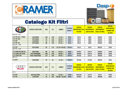Catalogo Kit Filtri